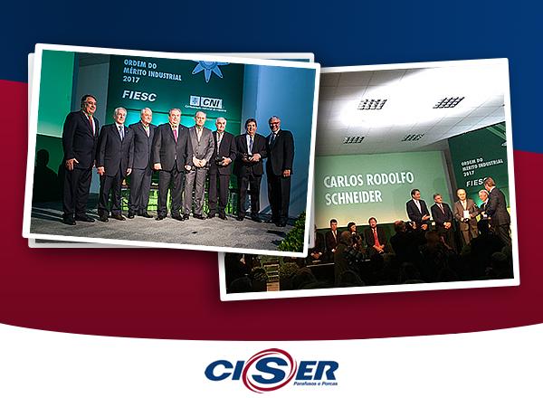 Presidente da Ciser recebe Ordem do Mérito Industrial